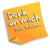 Logo: Denk an mich. Dein Rücken