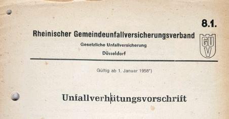 UVV 1958 Anstalten zur Behandlung